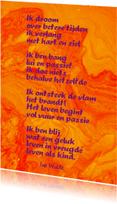 Gedichtenkaarten - Gedicht Brandend verlangen