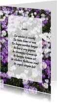 Gedichtenkaarten - Gedichtenkaart krokussen lente