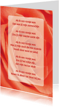 Gedichtenkaarten - Gedichtenkaart Roos liefde