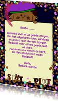 Sinterklaaskaarten - Gedichtje bedank piet
