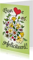 Verjaardagskaarten - Gefeliciteerd met bloemen!