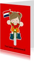 Kinderkaarten - Gefeliciteerd met fiets