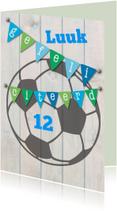 Verjaardagskaarten - Gefeliciteerd, voetbal-ByF