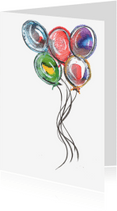 Felicitatiekaarten - Gekleurde feestballonnen