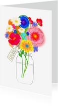 Geslaagd kaarten - Geslaagd kaart bloemen PA