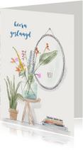 Geslaagd kaarten - Geslaagd kaart grote bos bloemen
