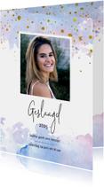 Uitnodigingen - Geslaagd kaart meisje feestje