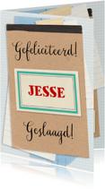 Geslaagd kaarten - Geslaagd papieren collage