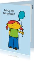 Geslaagd kaarten - Geslaagd School Ballonnetje