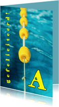 Geslaagd kaarten - geslaagd zwemdiploma MM