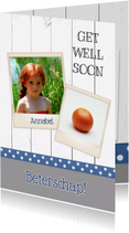 Beterschapskaarten - Get well soon - DH
