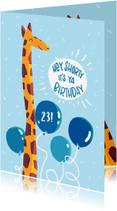 Verjaardagskaarten - Giraffe Happy Birthday