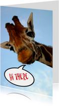 Dierenkaarten - Giraffekaart Hi There