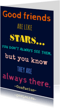 Vriendschap kaarten - Good friends are like stars