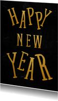 Gouden happy new year kaart - SU