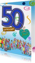 Jubileumkaarten - Grappige jubileumkaart uitnodiging feest 50 jaar samen
