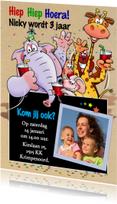 Kinderfeestjes - Grappige uitnodiging feest voor een kind met beesten