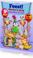 Kinderfeestjes - Grappige uitnodiging kinderfeestje dieren