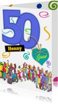 Verjaardagskaarten - Grappige verjaardag polonaise voor een man van 50 jaar