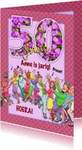Verjaardagskaarten - Grappige verjaardag polonaise voor een vrouw 50 jaar