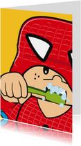Verjaardagskaarten - Grappige verjaardag  superheld