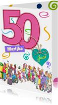 Verjaardagskaarten - Grappige verjaardag voor een vrouw die 50 jaar wordt