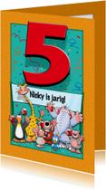 Verjaardagskaarten - Grappige verjaardagskaart Cijfer 5