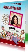 Verjaardagskaarten - Grappige verjaardagskaart met foto en dieren