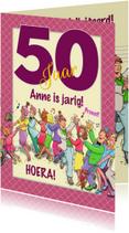 Verjaardagskaarten - Grappige verjaardagskaart polonaise voor een vrouw