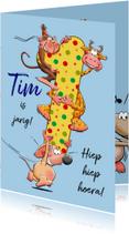 Verjaardagskaarten - Grappige verjaardagskaart voor jongetje van 1 jaar