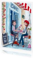 Vakantiekaarten - Groetjes uit Parijs Illustratie meisje