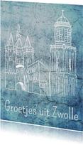 Vakantiekaarten - Groetjes uit Zwolle - DH