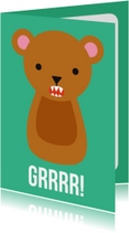 Dierenkaarten - Grrrr Beer Dierenkaart