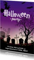 Halloween kaarten - Halloween kaart met heks