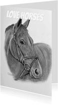 Dierenkaarten - Handgetekende Paardenkaart