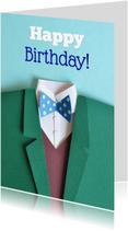 Verjaardagskaarten - happy birthday strik