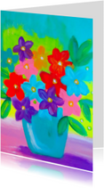 Kunstkaarten - Happy Colourful Flowers