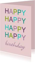 Verjaardagskaarten - happy happy v