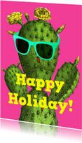 Vakantiekaarten - Happy holiday cactus