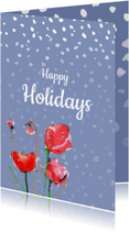 Kerstkaarten - Happy Holiday Poppy