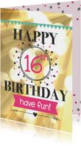 Verjaardagskaarten - happy leeftijd birthday-have fun