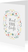 Zomaar kaarten - Heel veel liefs kalligrafie
