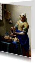 Kunstkaarten - Het melkmeisje Johannes Vermeer