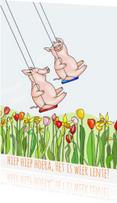 Zomaar kaarten - Hiep hoera het is weer lente