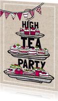 Uitnodigingen - High tea party uitnodiging