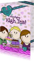 Uitnodigingen - High Tea uitnodiging PARTY GIRLS