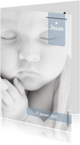 Geboortekaartjes - Hip Label Geboortekaartje