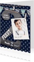 Kinderfeestjes - Hippe uitnodiging jongen 2 jaar