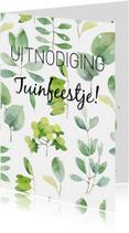 Uitnodigingen - Hippe uitnodiging voor een tuinfeest of bbq