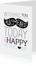 Vaderdag kaarten - Hipster snor vaderdag kaartje